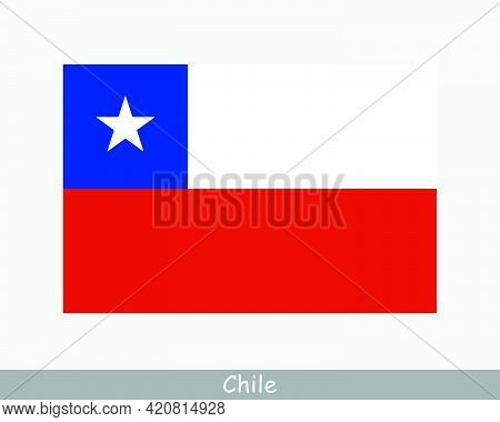 National Flag Of Chile. Chilean Country Flag. Republic Of Chile Detailed Banner. Eps Vector Illustra