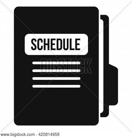Syllabus Folder Schedule Icon. Simple Illustration Of Syllabus Folder Schedule Vector Icon For Web D