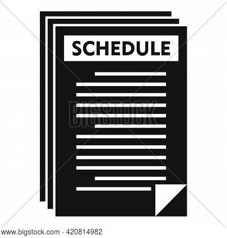 Syllabus Paper Schedule Icon. Simple Illustration Of Syllabus Paper Schedule Vector Icon For Web Des
