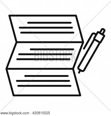 Syllabus Write Paper Icon. Outline Syllabus Write Paper Vector Icon For Web Design Isolated On White