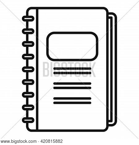 Syllabus Daily Notebook Icon. Outline Syllabus Daily Notebook Vector Icon For Web Design Isolated On