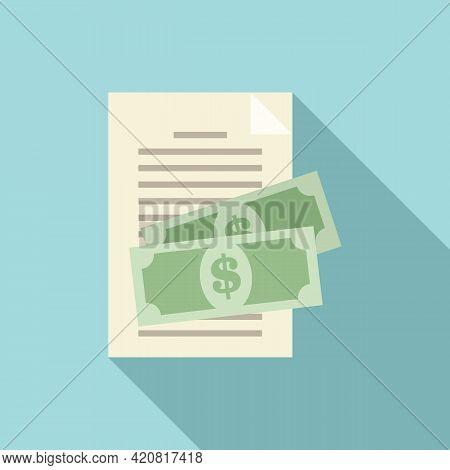 Retirement Compensation Icon. Flat Illustration Of Retirement Compensation Vector Icon For Web Desig