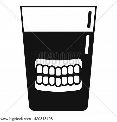 Set Of False Teeth Icon. Simple Illustration Of Set Of False Teeth Vector Icon For Web Design Isolat