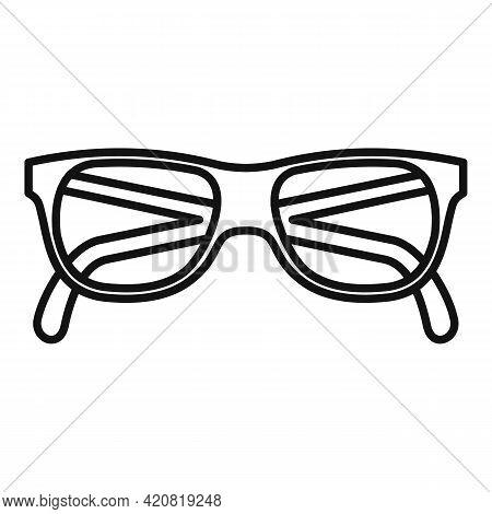 Granpa Eyeglasses Icon. Outline Granpa Eyeglasses Vector Icon For Web Design Isolated On White Backg