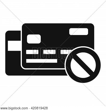 Jobless Credit Card Icon. Simple Illustration Of Jobless Credit Card Vector Icon For Web Design Isol
