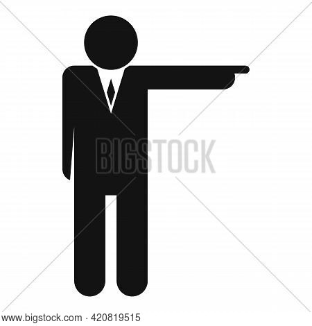 Jobless Boss Icon. Simple Illustration Of Jobless Boss Vector Icon For Web Design Isolated On White