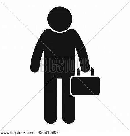 Jobless Director Icon. Simple Illustration Of Jobless Director Vector Icon For Web Design Isolated O