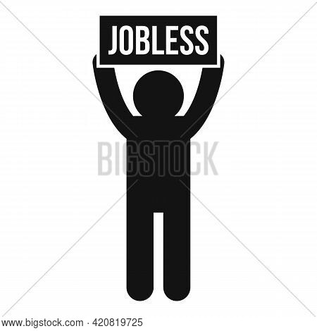 Jobless Sad Man Icon. Simple Illustration Of Jobless Sad Man Vector Icon For Web Design Isolated On
