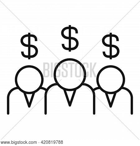 Group Allowance Icon. Outline Group Allowance Vector Icon For Web Design Isolated On White Backgroun