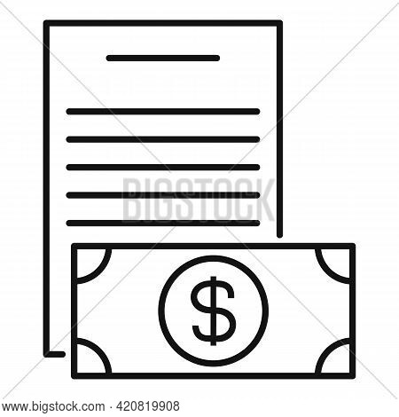 Money Allowance Icon. Outline Money Allowance Vector Icon For Web Design Isolated On White Backgroun