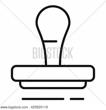 Allowance Stamp Icon. Outline Allowance Stamp Vector Icon For Web Design Isolated On White Backgroun