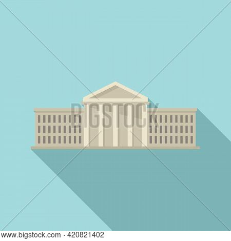 City Parliament Icon. Flat Illustration Of City Parliament Vector Icon For Web Design