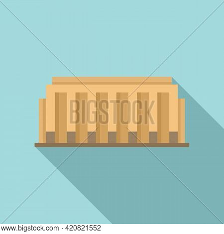 Country Parliament Icon. Flat Illustration Of Country Parliament Vector Icon For Web Design