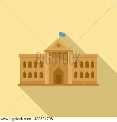 Parliament Property Icon. Flat Illustration Of Parliament Property Vector Icon For Web Design