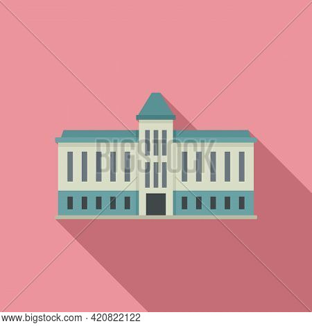 Capitol Parliament Icon. Flat Illustration Of Capitol Parliament Vector Icon For Web Design