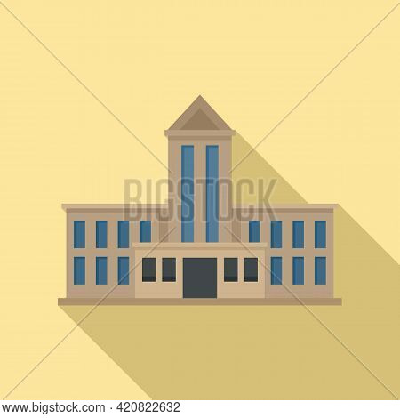 Government House Icon. Flat Illustration Of Government House Vector Icon For Web Design