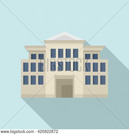 History Parliament Icon. Flat Illustration Of History Parliament Vector Icon For Web Design