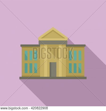 National Parliament Icon. Flat Illustration Of National Parliament Vector Icon For Web Design