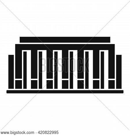 Parliament Construction Icon. Simple Illustration Of Parliament Construction Vector Icon For Web Des