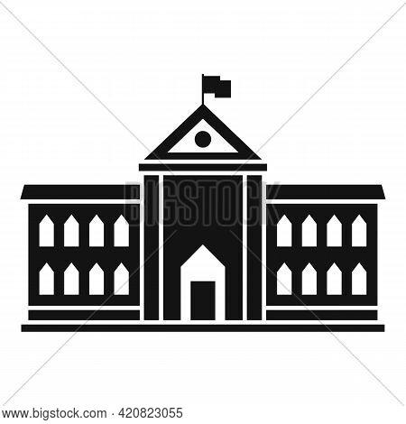 Parliament Architecture Icon. Simple Illustration Of Parliament Architecture Vector Icon For Web Des