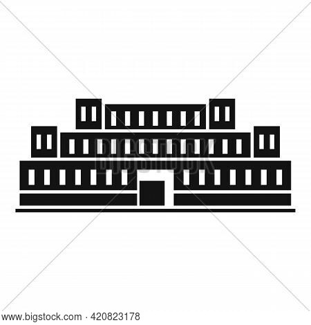 Residential Parliament Icon. Simple Illustration Of Residential Parliament Vector Icon For Web Desig