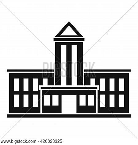 Public Parliament Icon. Simple Illustration Of Public Parliament Vector Icon For Web Design Isolated