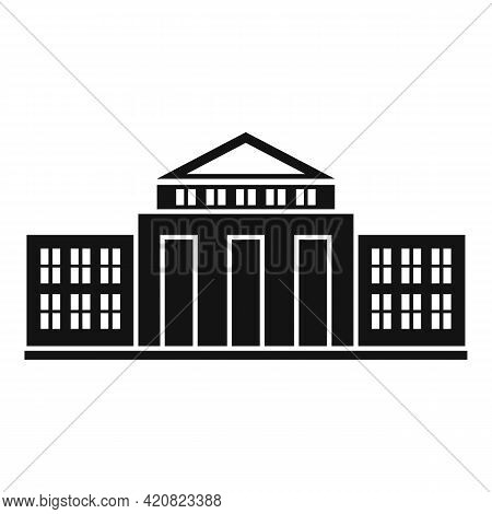 Parliament Court Icon. Simple Illustration Of Parliament Court Vector Icon For Web Design Isolated O