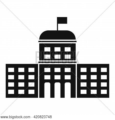 Flag Parliament Icon. Simple Illustration Of Flag Parliament Vector Icon For Web Design Isolated On