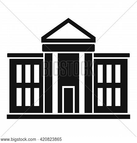 National Parliament Icon. Simple Illustration Of National Parliament Vector Icon For Web Design Isol