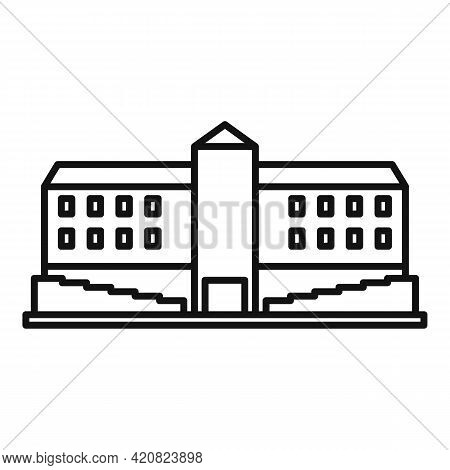 Parliament Building Icon. Outline Parliament Building Vector Icon For Web Design Isolated On White B