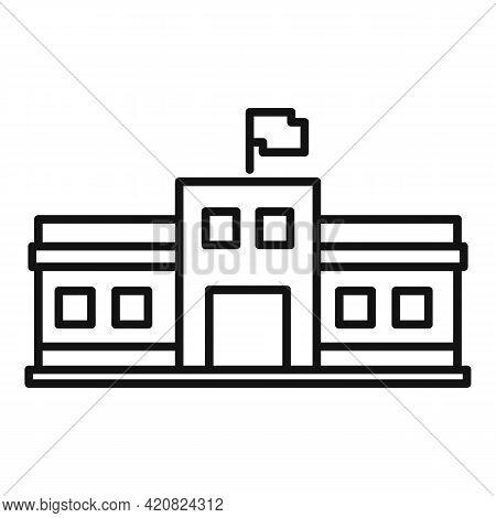 Parliament Facade Icon. Outline Parliament Facade Vector Icon For Web Design Isolated On White Backg