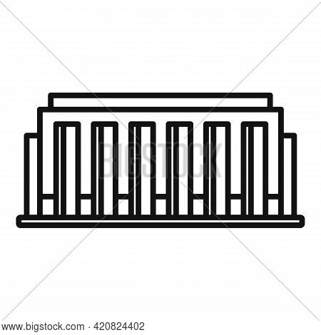 Parliament Estate Icon. Outline Parliament Estate Vector Icon For Web Design Isolated On White Backg