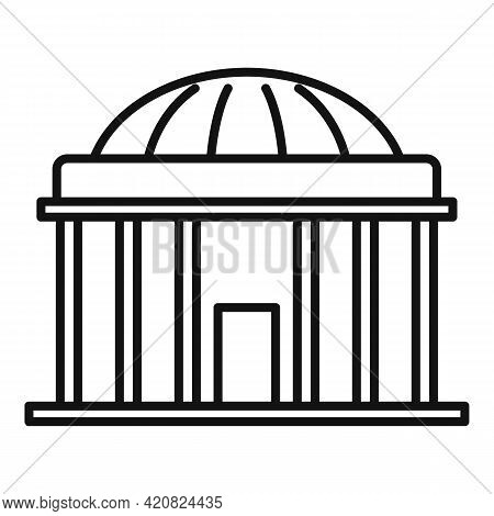 Residential Parliament Icon. Outline Residential Parliament Vector Icon For Web Design Isolated On W