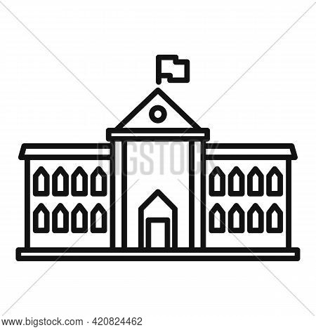 City Governance Icon. Outline City Governance Vector Icon For Web Design Isolated On White Backgroun