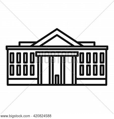 Parliament Landmark Icon. Outline Parliament Landmark Vector Icon For Web Design Isolated On White B