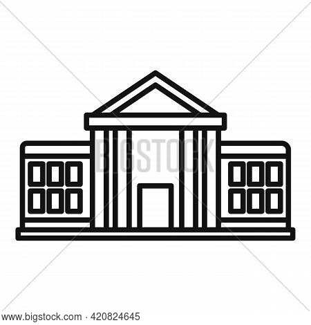 Parliament Institution Icon. Outline Parliament Institution Vector Icon For Web Design Isolated On W