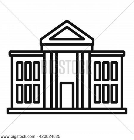 National Parliament Icon. Outline National Parliament Vector Icon For Web Design Isolated On White B