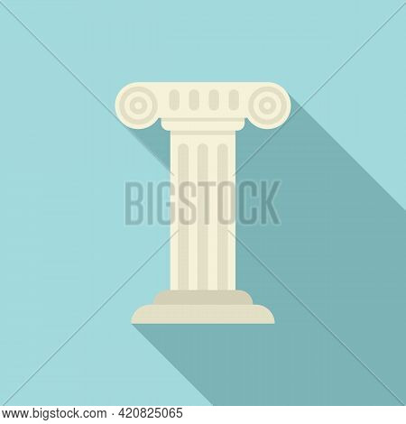 Greek Sightseeing Icon. Flat Illustration Of Greek Sightseeing Vector Icon For Web Design