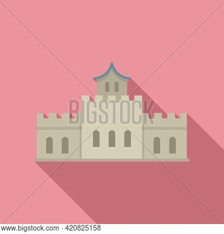 Castle Sightseeing Icon. Flat Illustration Of Castle Sightseeing Vector Icon For Web Design