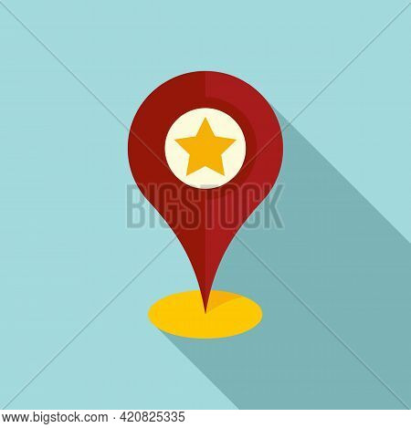 Sightseeing Location Icon. Flat Illustration Of Sightseeing Location Vector Icon For Web Design