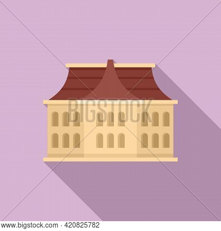 Architecture Sightseeing Icon. Flat Illustration Of Architecture Sightseeing Vector Icon For Web Des