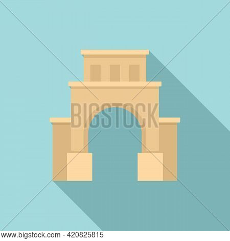 Cityscape Sightseeing Icon. Flat Illustration Of Cityscape Sightseeing Vector Icon For Web Design