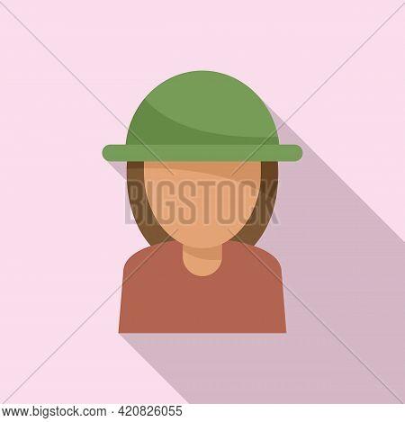 Safari Tourist Icon. Flat Illustration Of Safari Tourist Vector Icon For Web Design