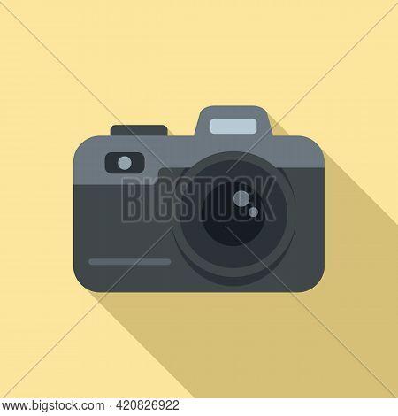 Video Camera Icon. Flat Illustration Of Video Camera Vector Icon For Web Design