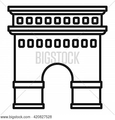 Temple Sightseeing Icon. Outline Temple Sightseeing Vector Icon For Web Design Isolated On White Bac