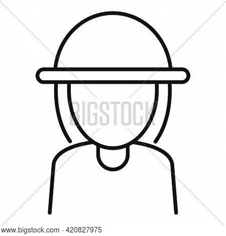 Safari Tourist Icon. Outline Safari Tourist Vector Icon For Web Design Isolated On White Background