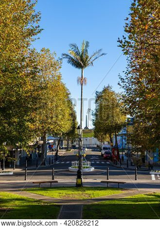 Whanganui, Rangitikei, New Zealand, 04.28.2021. Majestic Square In The Main Center City Shopping Are