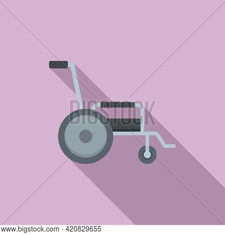 Nursing Wheelchair Icon. Flat Illustration Of Nursing Wheelchair Vector Icon For Web Design