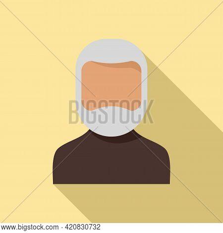 Senior Man Icon. Flat Illustration Of Senior Man Vector Icon For Web Design