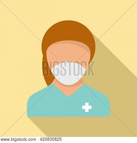 Nursing Assistant Icon. Flat Illustration Of Nursing Assistant Vector Icon For Web Design